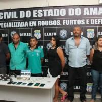 Quadrilha especializada em roubos é presa ao tentar assaltar casa lotérica em Manaus