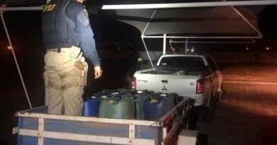 Quadrilha é presa com R$ 20 mil, 22 pepitas de ouro e combustível ilegal na BR-174