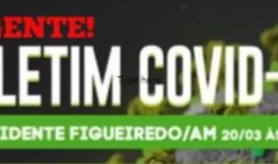 PRESIDENTE FIGUEIREDO CONTINUA SEM CASO CONFIRMADO PARA O COVID-19