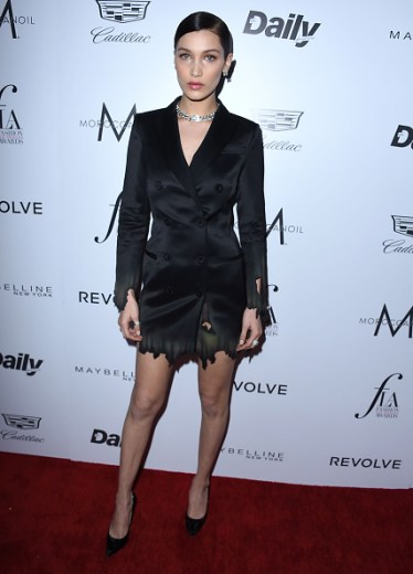 """WEST HOLLYWOOD, CA - MARCH 20: Bella Hadid arrives at the The Daily Front Row """"Fashion Los Angeles Awards"""" 2016 at Sunset Tower Hotel on March 20, 2016 in West Hollywood, California. (Photo by Steve Granitz/WireImage)"""