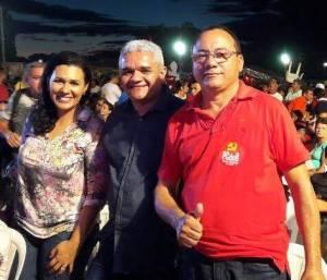 Cristiane com Américo e Antonio Pires