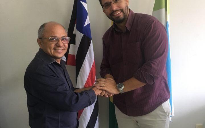 Marcos Tourinho recebe a visita do ex-presidente Osmar Aguiar