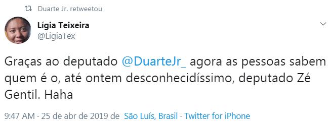 Após crise do RG+, Duarte Jr. debocha de Zé Gentil
