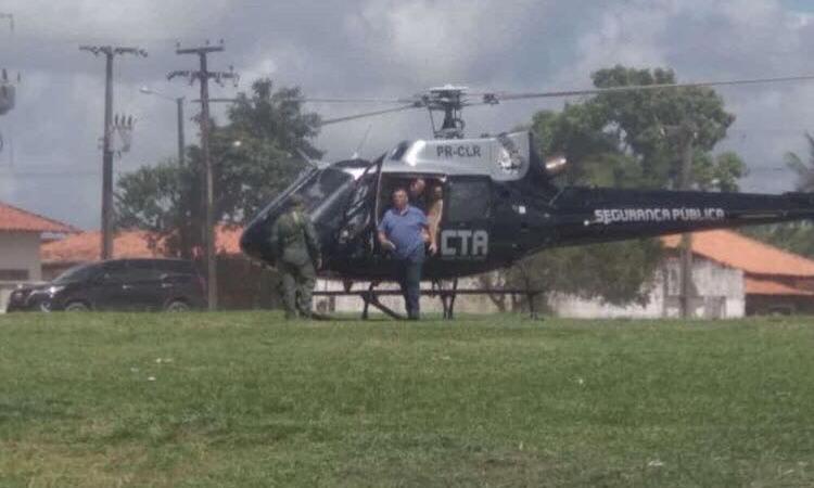 Com estradas deterioradas, Flávio Dino vai de helicóptero a agenda no interior