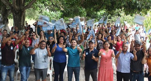 Ao lado de Bruno Silva, Lidiane do Zé Raimundo promove evento no povoado São Pedro