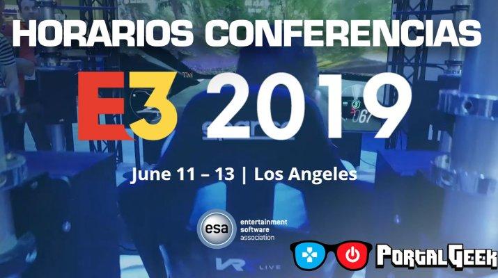 horariuos conferencias E3 2019