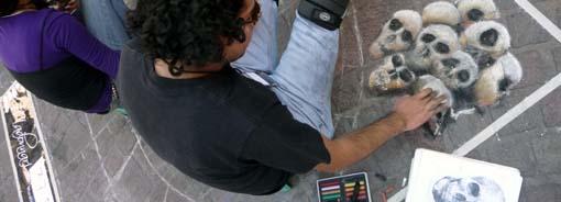 El arte por los suelos