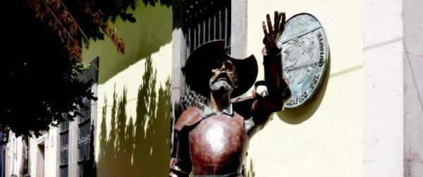 Colgándose del Quijote