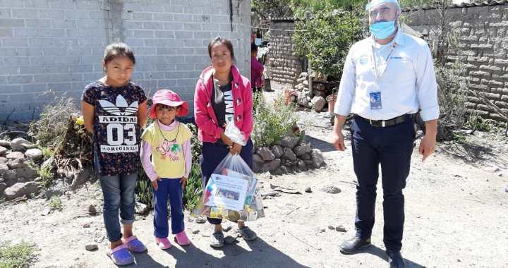 Apoya INAEBA a mil menores con despensas