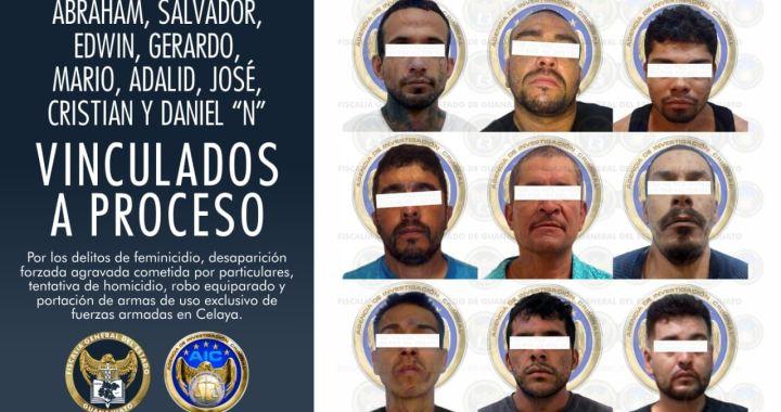 Vinculan a proceso a nueve integrantes de célula criminal de Celaya