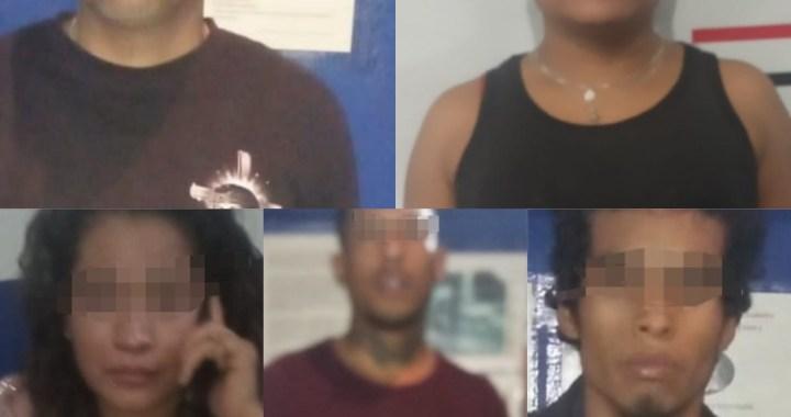 Detienen a cinco sospechosos