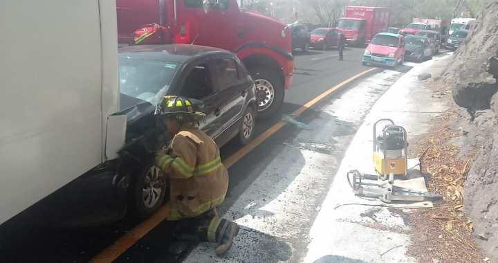 Tres accidentes viales en un día y una mujer herida