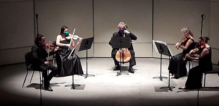 """Las cuerdas de Kvintet presentes en """"Solistas de la OSUG"""""""