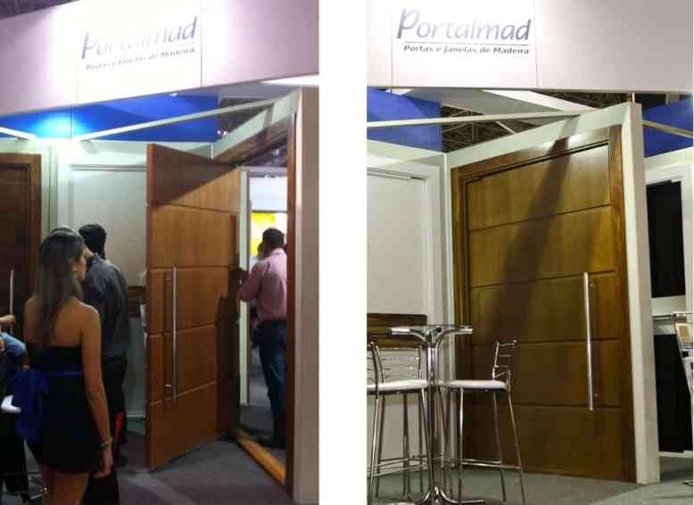 Porta Pivotante de Madeira - Passione - Portalmad