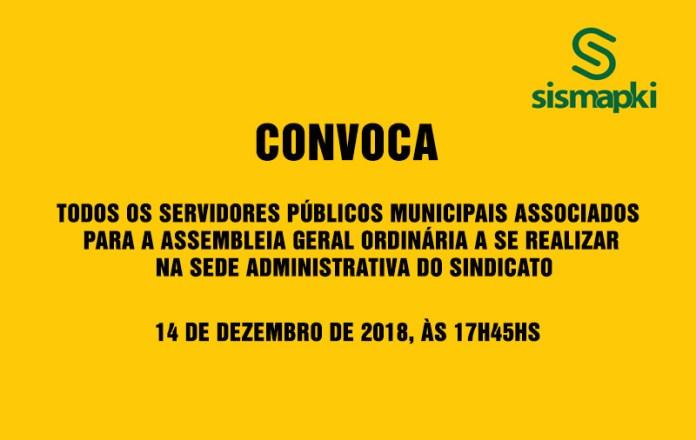 Sismapki convoca todos os servidores associados para Assembléia Legislativa