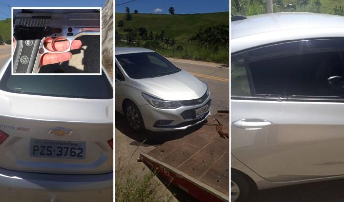 Veículo usado por bandidos que aterrorizaram Marataízes é recolhido