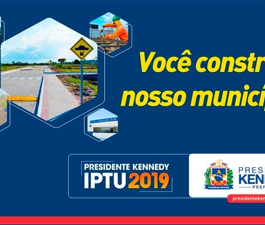 Kennedy: Contribuintes que pagarem IPTU até o dia 29 de março terão desconto de 20%