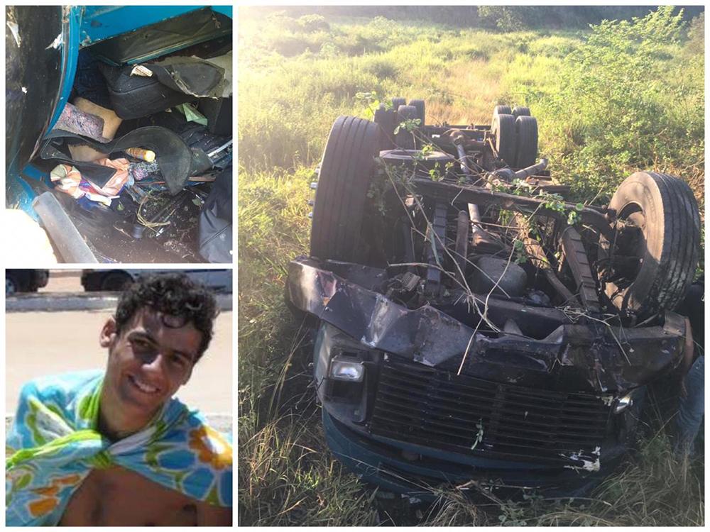 Caminhoneiro morre após capotar em Graúna, distrito de Itapemirim