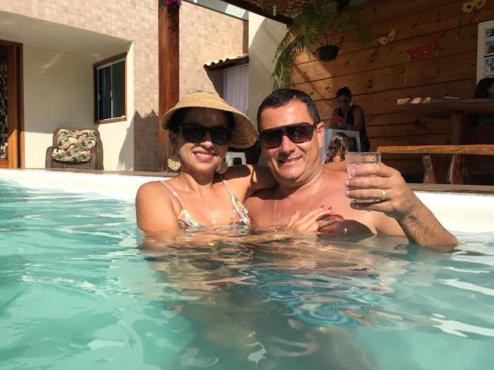 Ígila e seu esposo Jânio Ferreira