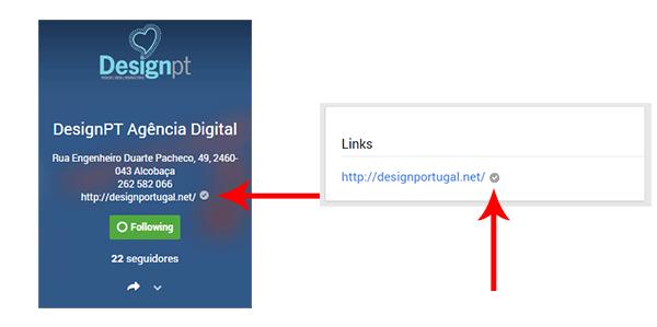 Website confirmado na página Google+