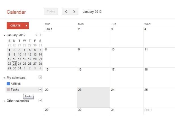 Tasks Google Calendar