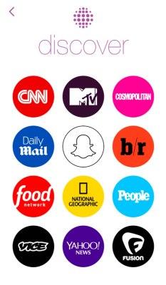 Snapchat Discover -  media