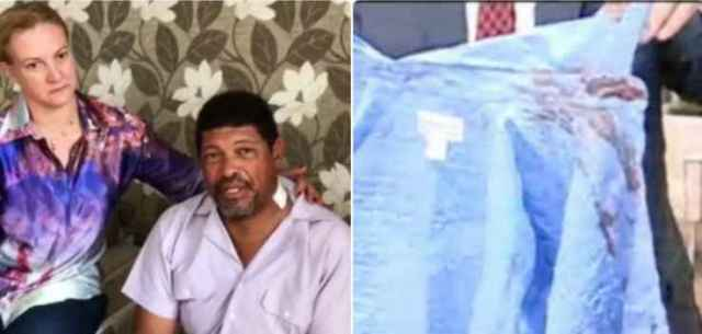 Camisa ensanguentada do Pastor
