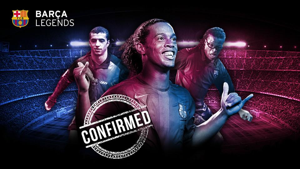 Ronaldinho Gaúcho regressa ao Camp Nou, O eterno camisa 10 do Barça, Ronaldinho, confirmou presença no duelo de lendas contra o Manchester United.