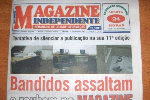 Trata-se de Albanês Ndanda e António Nhangumbe, respectivamente repórter de escrita e repórter fotográfico, violentados pela segurança, Jornalistas