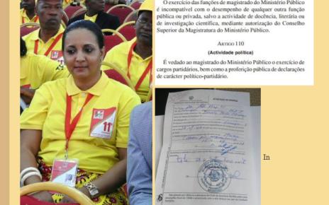 Ivania Taibo Mussagy, Procuradora de Tete, em flagrante incumprimento da lei e com atestado médico falso.
