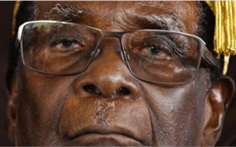 Os manifestantes de Irate zim cercaram a residênciade Mugabe, o presidente desenvolve pressão arterial alta e apreensões cardíacas intermitentes.
