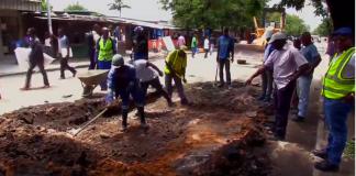 O Conselho Municipal da Beira (CMB) iniciou com obras de melhoramento das principais vias daquela urbe que se apresentam muito degradadas