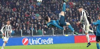O jogo que ficou marcado por um pontapé de bicicleta do internacional português CR7 que promete ficar na história, Cristiano Ronaldo
