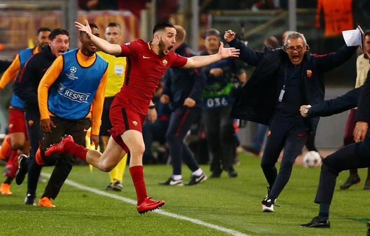 A Roma venceu (3-0), esta terça-feira, o Barcelona e eliminou a equipa catalã nos quartos de final da Liga dos Campeões