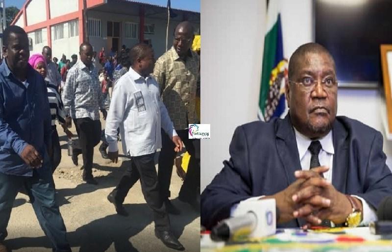 Nyusireferiu que já retomou o diálogo com o líder de transição da Renamo, Tenente-general Ossufo Momade, que irá dirigir interinamente o partido até que...