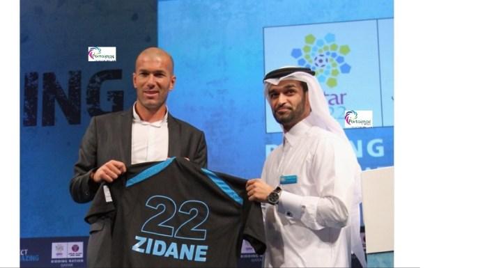 O ex-jogador da seleção francesa Zinedine Zidane está sendo ligado à posição de liderança da equipe nacional do Qatar em um contrato de 50 milhões de libras