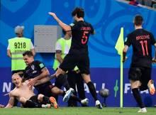 No mais surpreendente jogo de quartas de final destaCopa do Mundo, aCroáciase classificou após vencer aRússiapor 4 a 3