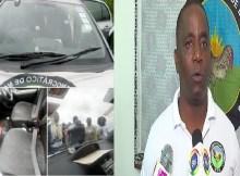 Os disparos (dois tiros) não causaram vitimas mas perfuraram o vidro frotal da viatura em que seguia o cabeça-de-lista, Augusto Pelembe.