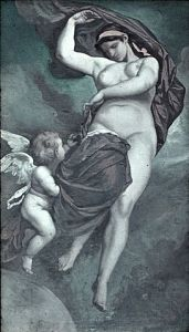 The Mother Goddess Gaea, in Greek Mythology, the mother and creator of the gods and the universe. Painted by Anselm Feuerbach.