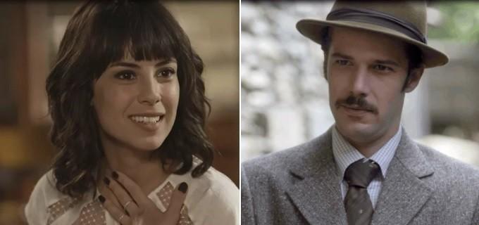 Lucinda (Andreia Horta) e Fernão (Jayme Matarazzo) em Tempo de Amar