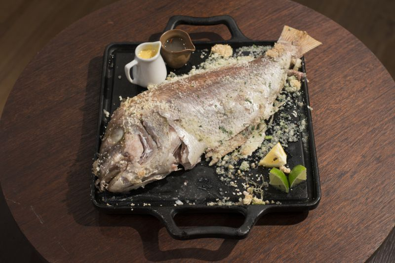 Pargo em crosta de sal e molho hollandaise, prato vencedor da semana do MasterChef (Reprodução/Band)