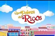 Logo da novela Que Pobres Tao Ricos