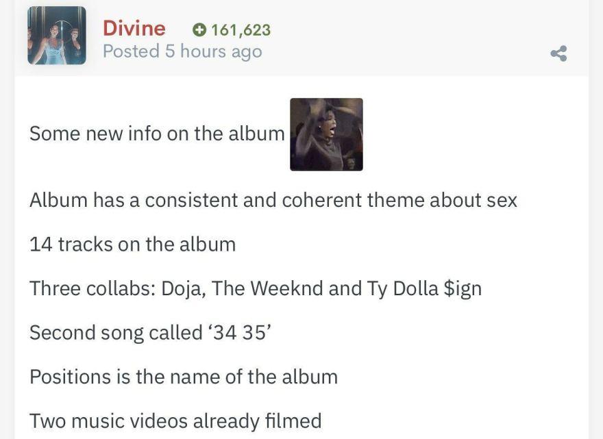 Insider do ATRL divulga detalhes do novo álbum de Ariana Grande