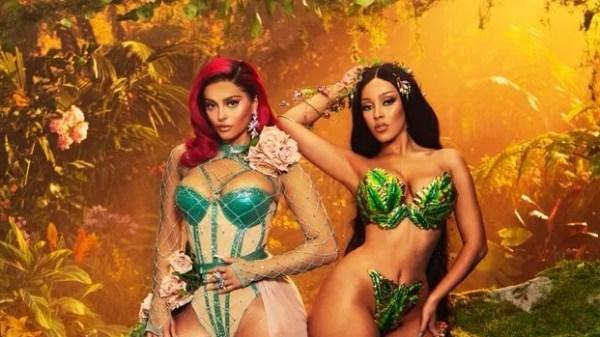 """Novas imagens dos bastidores de """"Baby, I'm Jealous"""", parceria de Bebe Rexha e Doja Cat são divulgadas"""