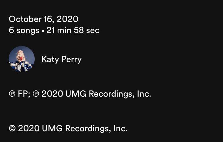 Ao que tudo indica, Katy Perry foi desligada de sua gravadora