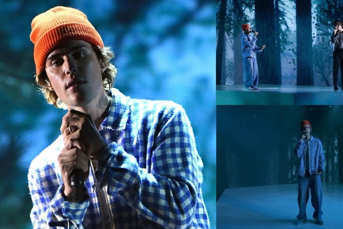 Com medley, Justin Bieber faz ato de abertura do AMAs com participação especial de Shawn Mendes