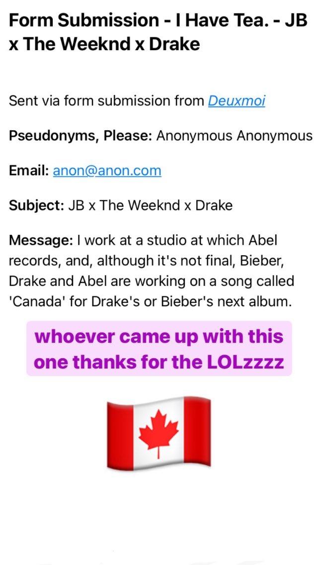 Surgem rumores que apontam uma possível colaboração entre Justin Bieber, Drake e The Weeknd
