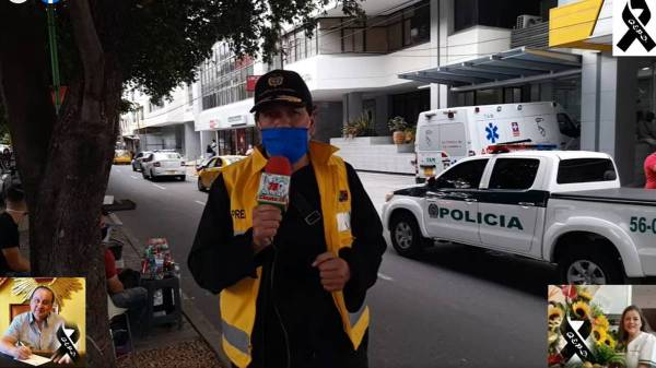 Jornalista recebe notícia da morte da esposa ao entrar ao vivo na TV Carlos Adolfo Méndez