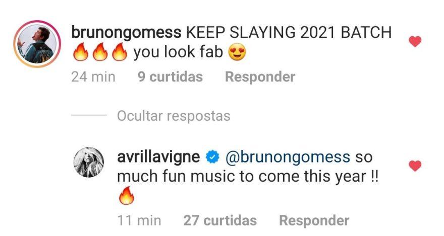 Através de seu Instagram, Avril Lavigne afirma que irá lançar novas músicas este ano