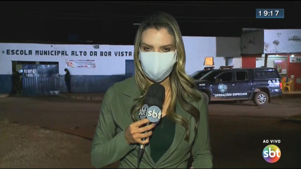Jornalista do SBT é atacada pot pitbull durante gravação de reportagem; veja
